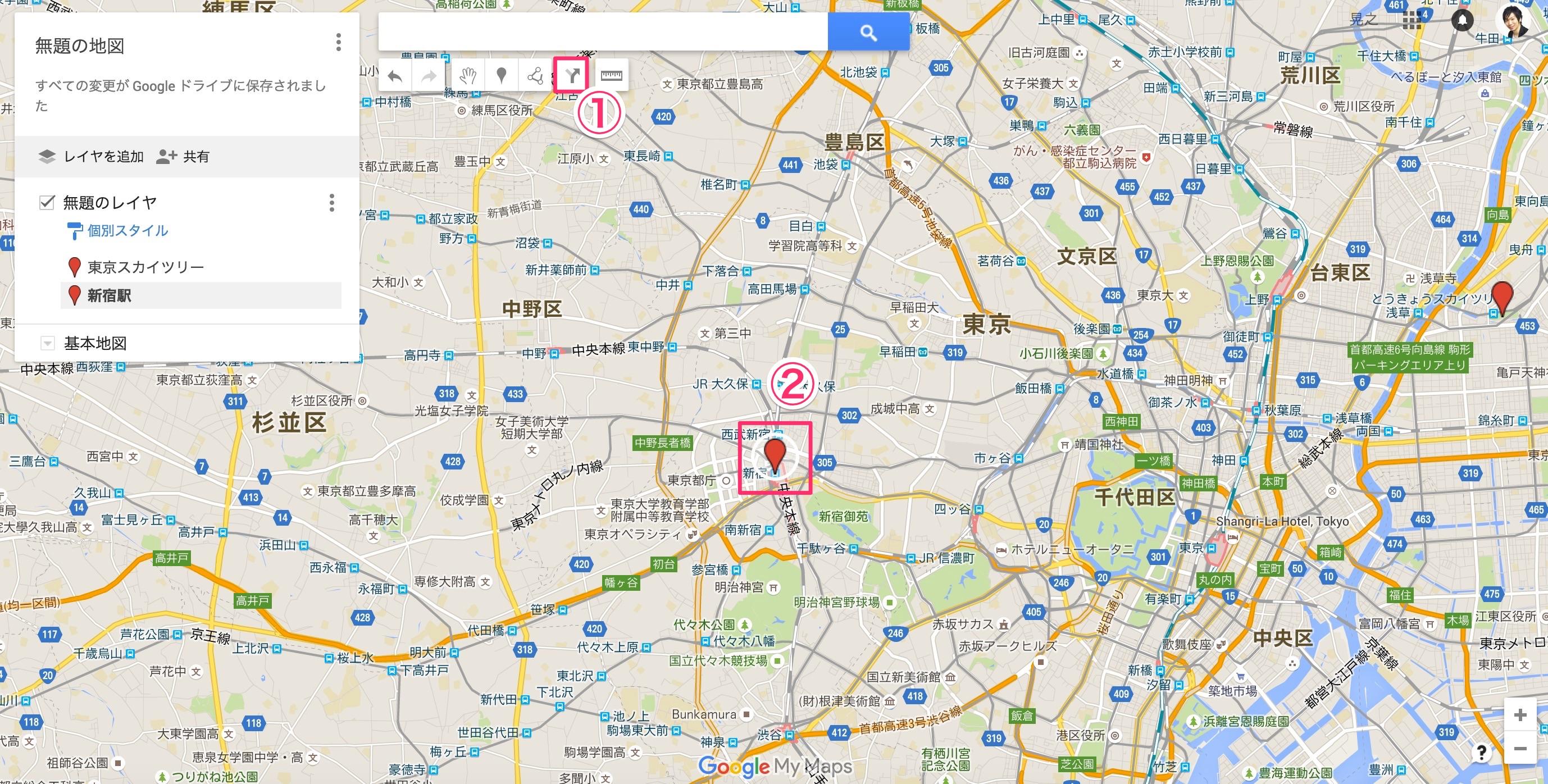 googlemapのマイプレイスの使い方8