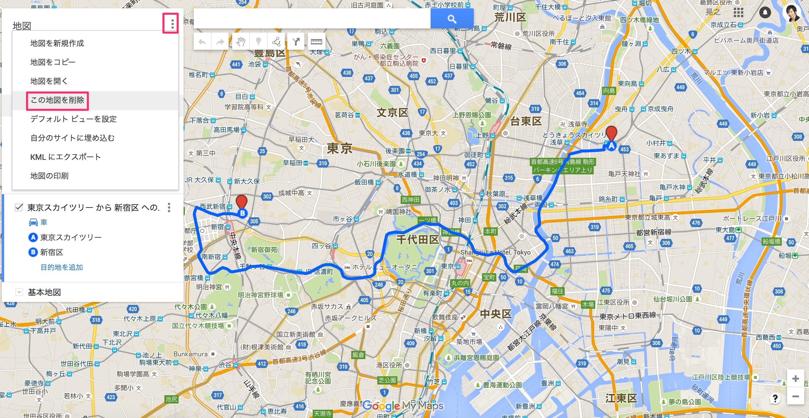 googlemapの自作地図の埋め込み3