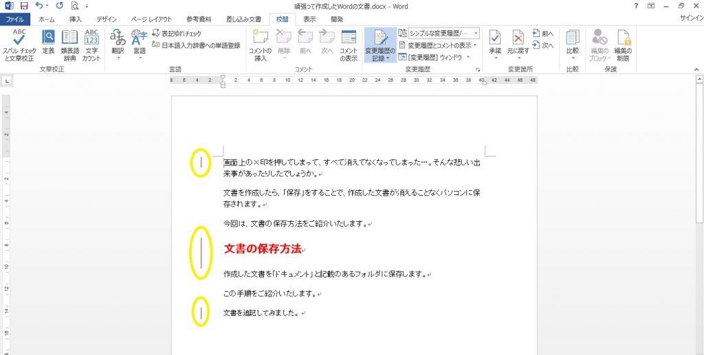 Word 変更履歴04